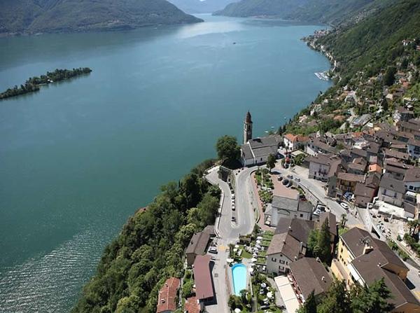 Aerial of Ronco Sopra Ascona