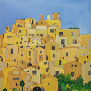 """""""City of Light"""" (oil on canvas) by Maggie Bandstra"""