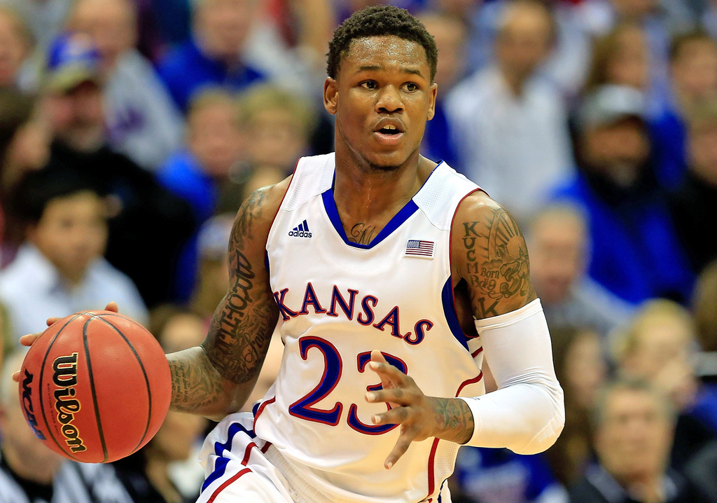 . 5.) Phoenix Suns -- Ben McLemore, shooting guard, Kansas -- Looking sluggish in recent workouts has dropped him down draft boards. But he�s still a No. 1 overall pick candidate with probably the biggest upside of any guard prospect, thanks to his 42-inch vertical and smooth jump shot.   (Photo by Jamie Squire/Getty Images)