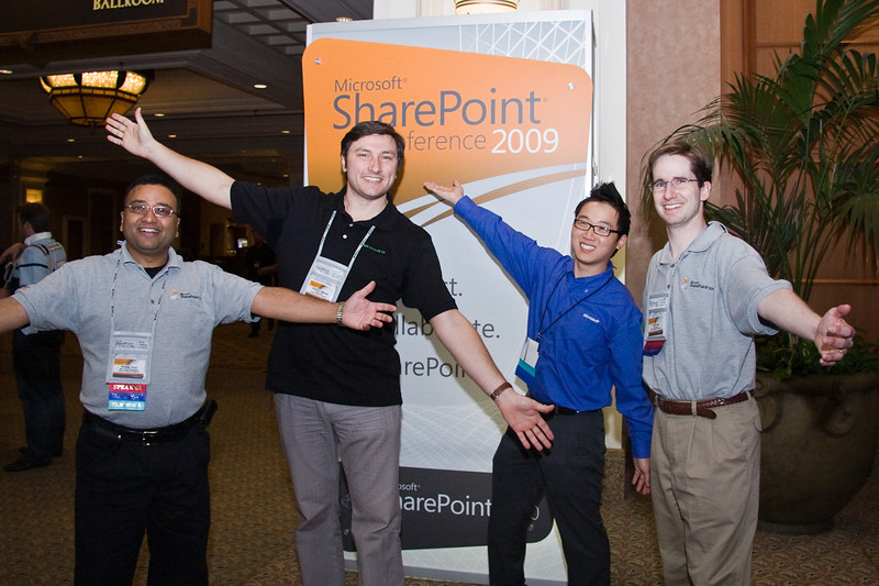 Microsoft Speakers Sonji Soni, Vladimir Melnik, and Kevin. I never caught the name of the SharePoint Shouter. edit