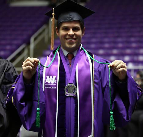 Student Philanthropy Photos (Green graduation cords)