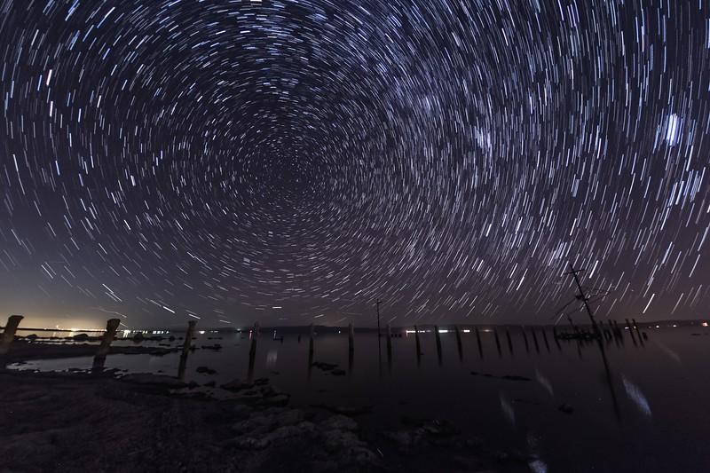 Salton Sea Star Trails