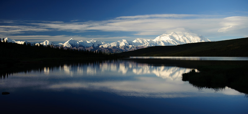 DENALI OVER WONDER LAKE