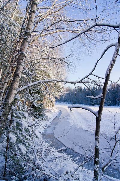 Winter snow landscapes in Ruissalo at the Kuuva area in Turku, Finland