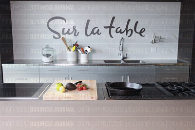 Diane Neal, chief executive officer of Sur la table, is pictured in the test kitchen of her company's headquarters in Seattle, Wash.