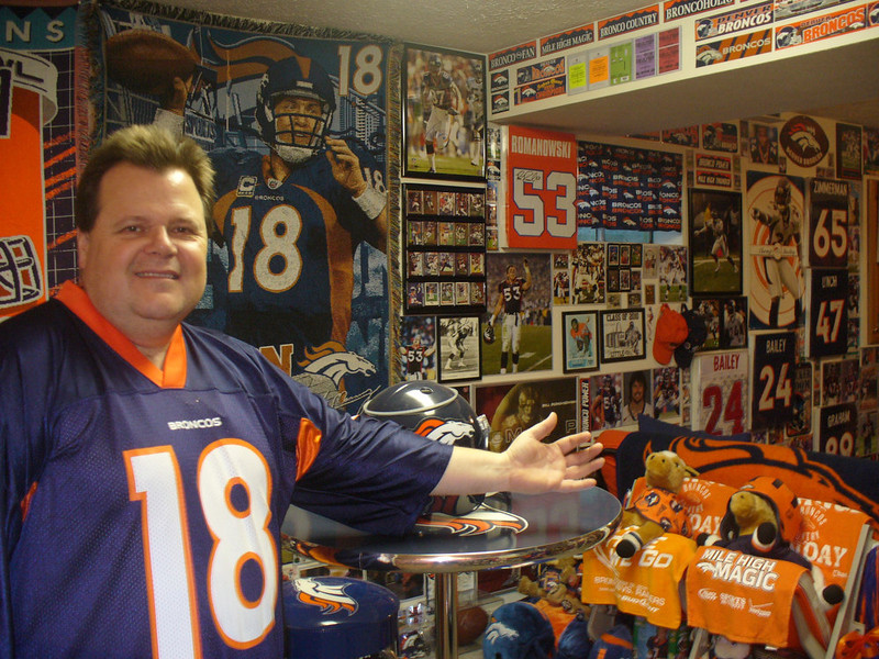 . Will be watching the Broncos beat the Ravens 1/12/13, in the MOST ULTIMATE Fan Cave.....EVER! THE BRONCOBASEMENT!!!!  Scott Bosecker, Amelia, OH