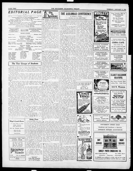 The Southern California Trojan, Vol. 15, No. 38, January 08, 1924