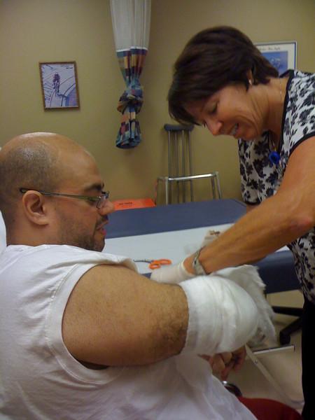 2009 07 13 - Ist Doctors appt: Wraps coming off