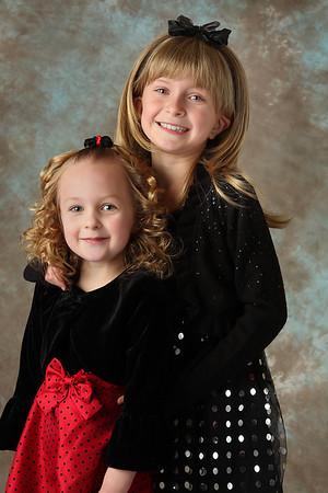 Christmas Portraits 2009 - Carlee & Katrina