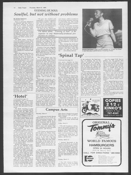 Daily Trojan, Vol. 95, No. 41, March 08, 1984