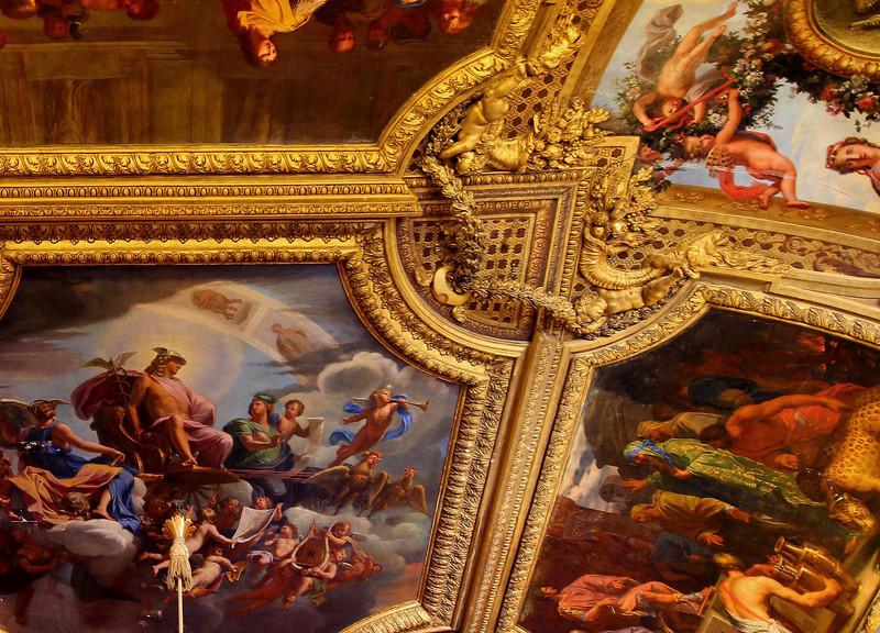 Ceiling close up, Palace at Versailles.