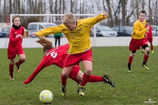 13/01/2018: KV Cercle Melle B - KVV Laarne-Kalken