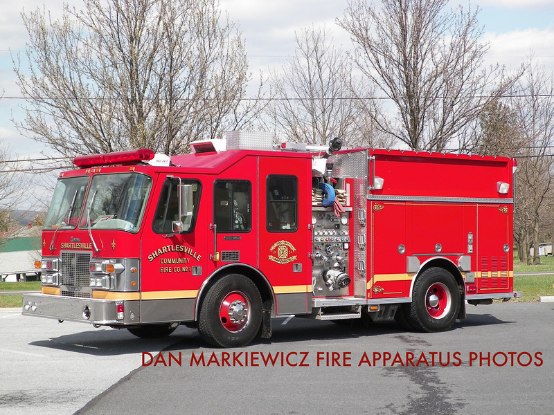 SHARTLESVILLE COMMUNITY FIRE CO. ENGINE 41 1996 SIMON DUPLEX/CENTRAL STATES PUMPER