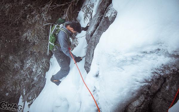 Ice Climbing the Melting Cave Ridge