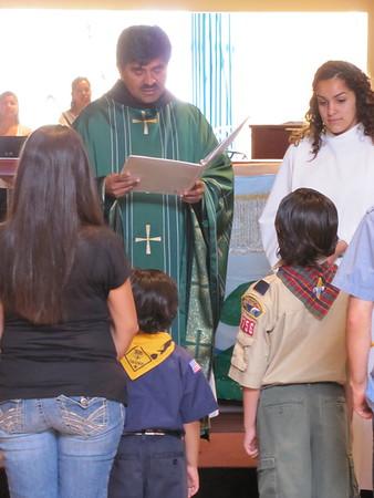 07-15-12 Daniel & Gabriel de la Cruz  Receive Emblems