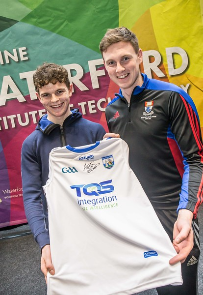 Padraig Bailey, Good Councel, New Ross with Austin Deasy, Waterford during the Waterford Institute of Technology Schools' Open Day at the WIT Arena. On Saturday, 20 January, WIT is running another open day, the #StudyatWIT Open Day which will have information available on all courses available across WIT's schools of Lifelong Learning, Humanities, Engineering, Science & Computing, Health Sciences, Business. Picture: Pat Moore
