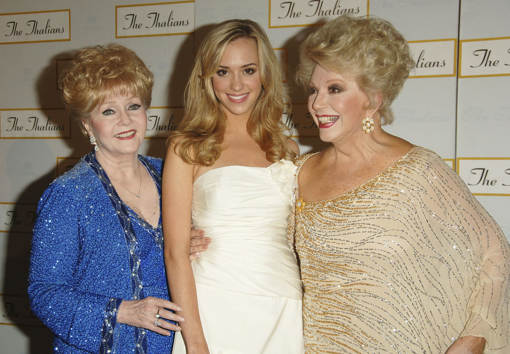 . (L-R) Actors Debbie Reynolds, Andrea Bowen and Ruta Lee attend the 51st Annual Thalians Ball at the Hyatt Regency Century Plaza Hotel on October 7, 2006 in Century City, California.  (Photo by Stephen Shugerman/Getty Images)