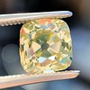 2.10ct Light Yellow Antique Peruzzi Cut Diamond, GIA W-X SI2 1