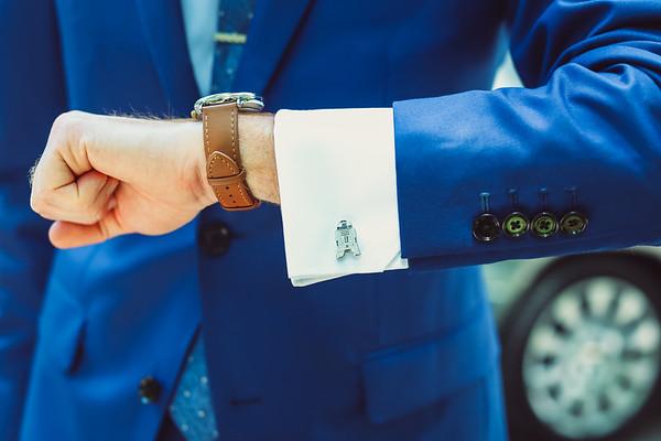 [groom] getting ready
