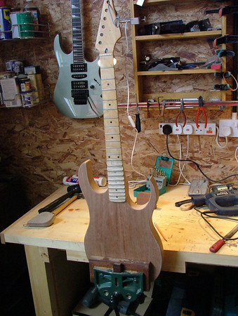 Guitar Body build and Neck pocket routing
