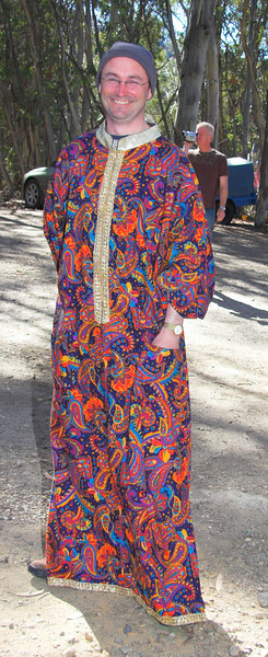 Bollywood day: Dale dresses up in style.