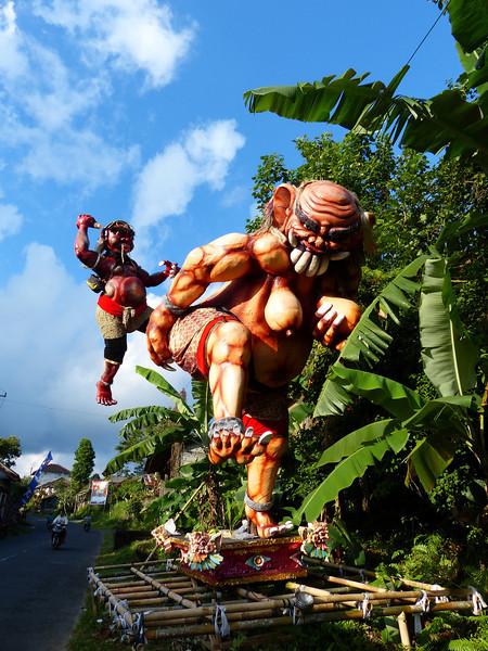 Ogoh-ogoh leftover from this year's Nyepi Festival