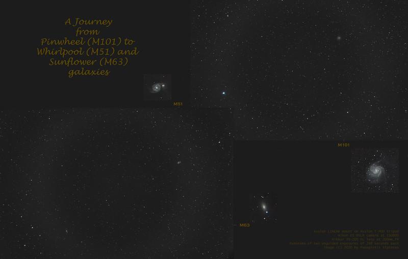 M101, M51, M63