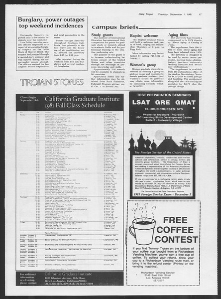 Daily Trojan, Vol. 91, No. 2, September 01, 1981