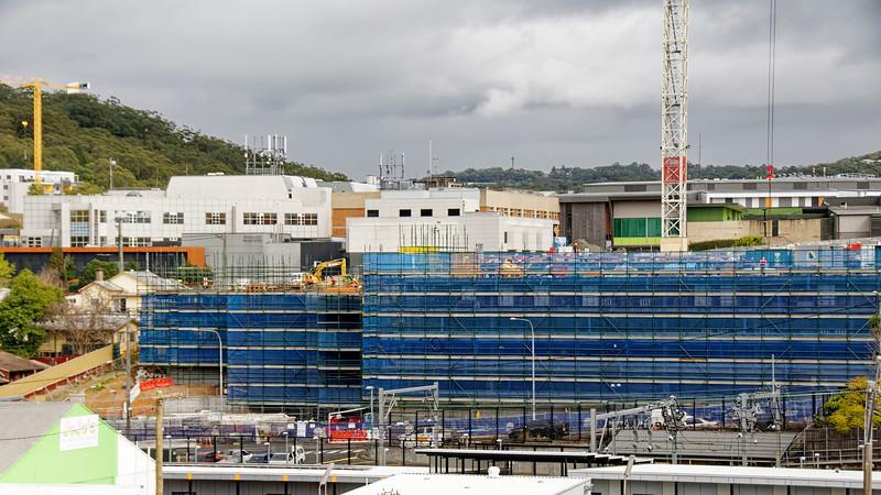 Gosford Hospital building progress September 3, 2018.   (h23ed)
