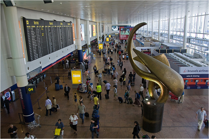 Zaventem Airport, departure hall