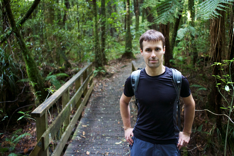 Jiri of Czech Republic, at Kaitoke Regional Park, New Zealand