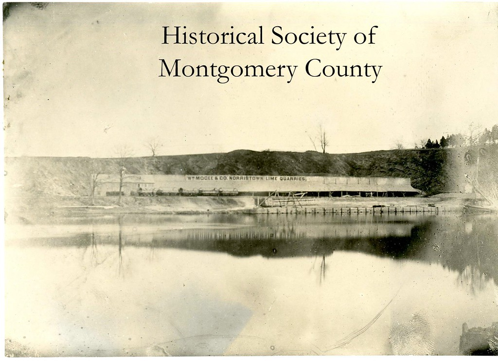 . This undated photo from the Historical Society of Montgomery County shows the William Mogee\'s Quarry in Norristown.