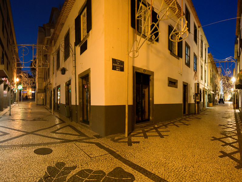 Old town streets of Funchal