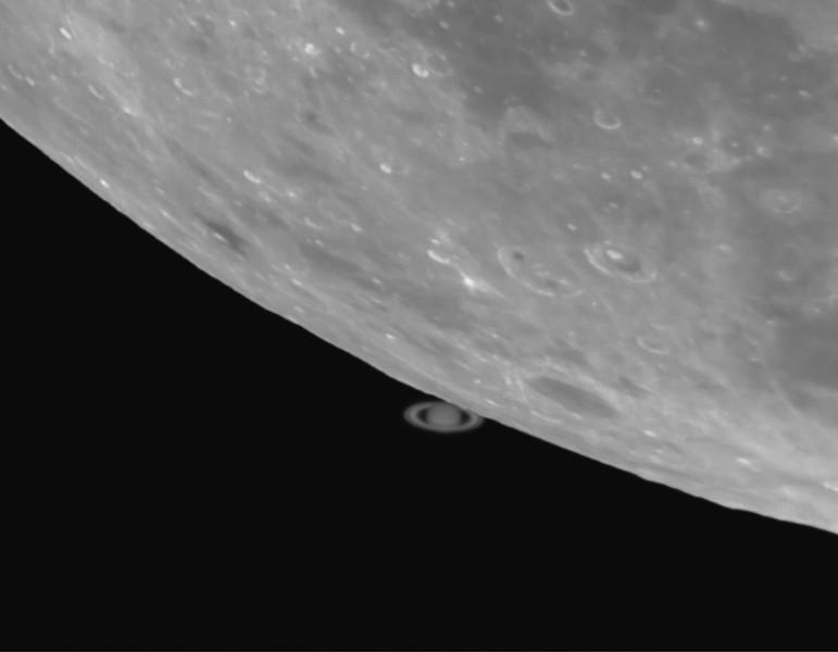 Lunar Occultation of Saturn - 14th May 2014