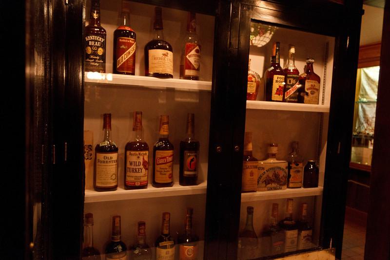 Whiskeys at Antoine's