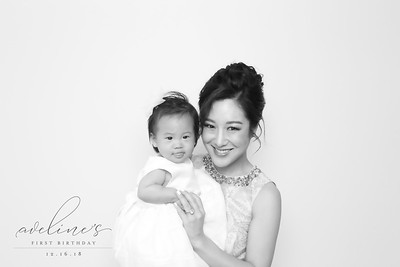 Aveline 1st Birthday (BW SkinGlow Booth)