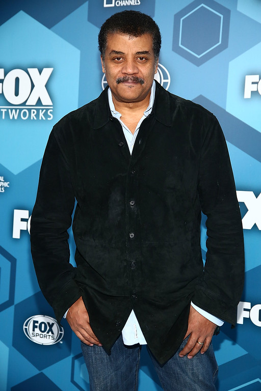 . NEW YORK, NY - MAY 16:  Neil deGrasse Tyson attends FOX 2016 Upfront Arrivals at Wollman Rink, Central Park on May 16, 2016 in New York City.  (Photo by Astrid Stawiarz/Getty Images)