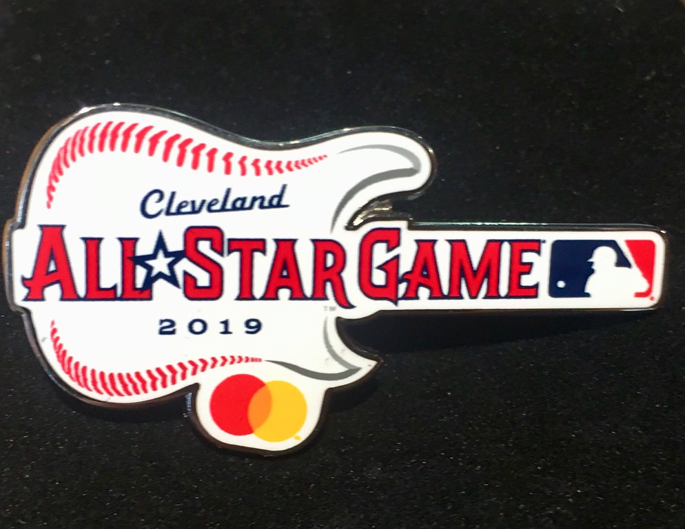 . 2019 All-Star Game lapel pin. (David S. Glasier - The News-Herald)