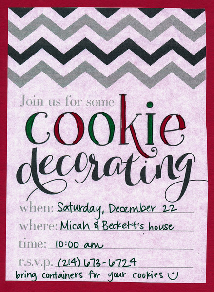 Cookie Baking 2012