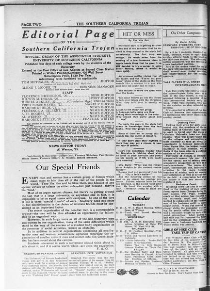 The Southern California Trojan, Vol. 11, No. 45, January 20, 1920