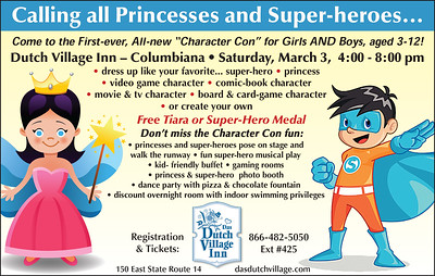 March 3, 2018 - Princesses and Super-heros