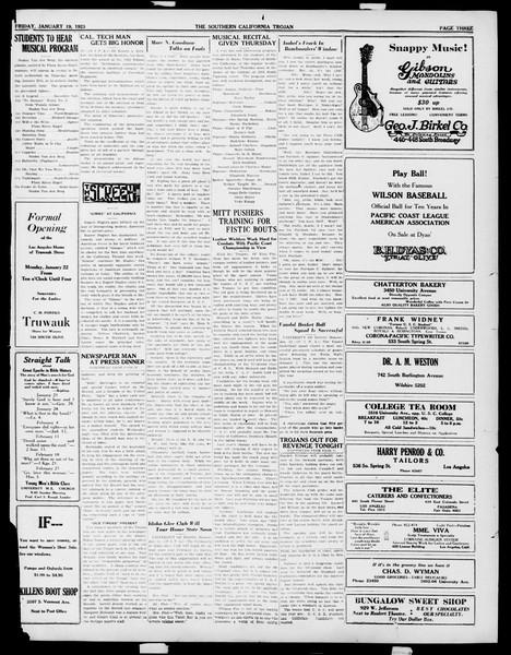 The Southern California Trojan, Vol. 14, No. 49, January 19, 1923