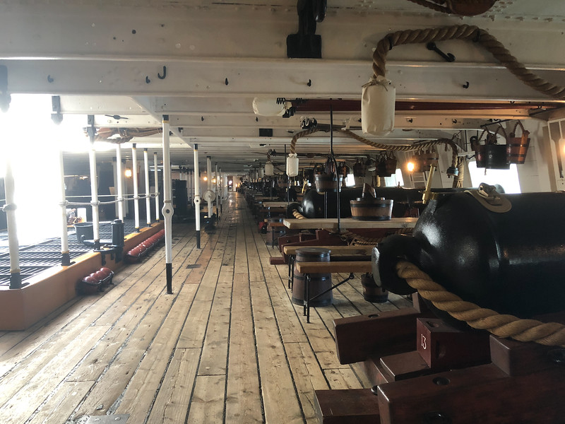 Gun deck of the HMS Warrior