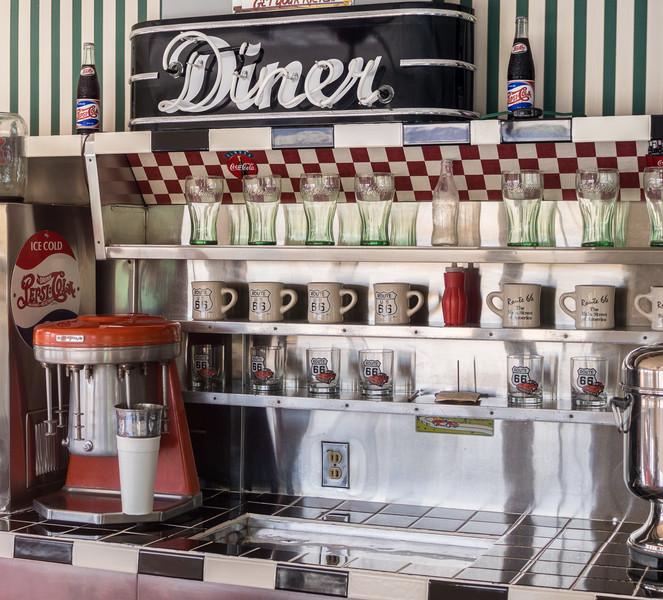 Inside of Historic Diner