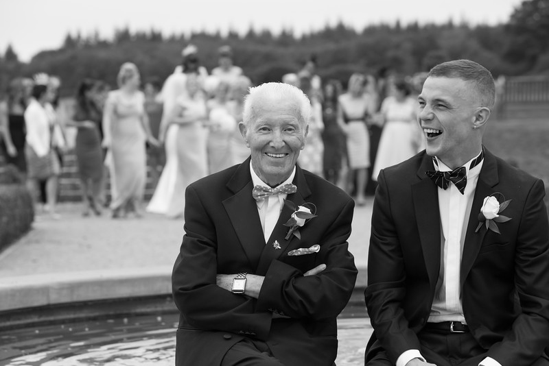 Back & white wedding photos