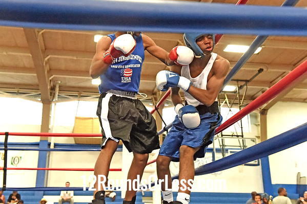Bout 11 Chavon Stillwell, Red Gloves -vs- Elliot Davis, Blue Gloves, CMBA PAL, 138 lb Junior Div. Championship