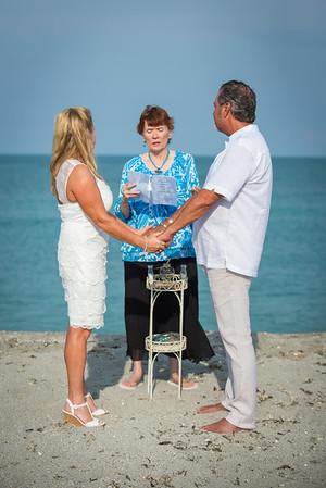 Brenda and Troy's Wedding Ceremony at Sharkey's Beach, Venice, FL