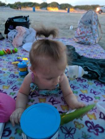 Kylers 1st beach trip