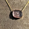 'INV My Letter' Pale Pink Glass Rebus Pendant, by Seal & Scribe 27