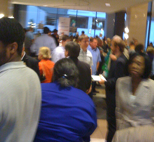 Blurry moving i-phone shot of crowd at #TasteCLT